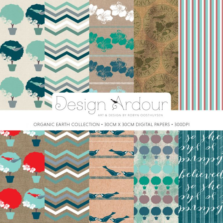 Design Ardour: Art & Design by Robyn Oosthuysen | Digital Paper | Organic Earth Collection