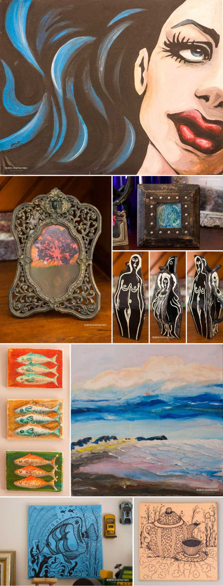 Design Ardour: Art & Design by Robyn Oosthuysen | painting | ceramics | roller press printing | portrait | fish